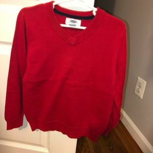 Old Navy red holiday boys cardigan